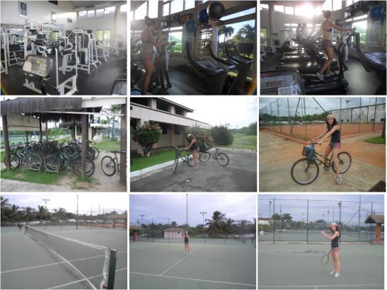 Sauípe Desporto - Não há motivo para não manter a forma: Tenis, Bicicletas (1hora gratuita por dia) e ginásio. Tudo gratuito!